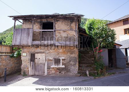 View of rural house in the spanish town