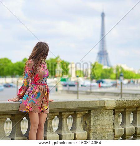 Beautiful Young Woman In Paris