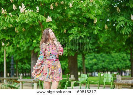 Young Parisian Woman In The Tuileries Garden