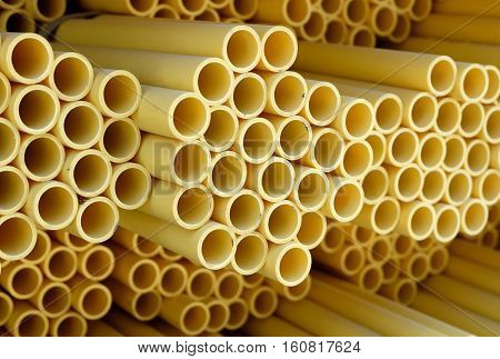 PVC pipes for drinking water,  pipe yellow.