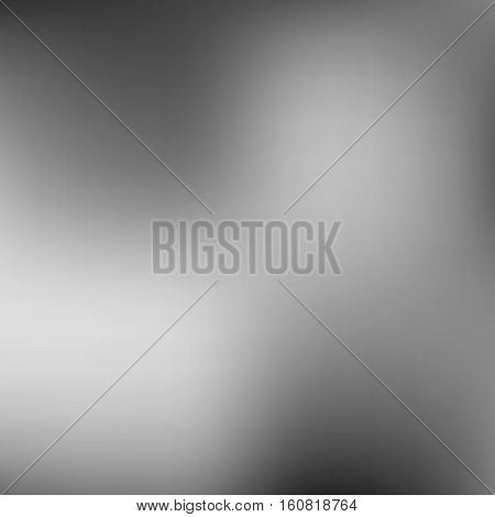 Abstract grey, black and white, monochrome blur gradient background for design concepts, wallpapers, web, presentations and prints. Vector illustration.