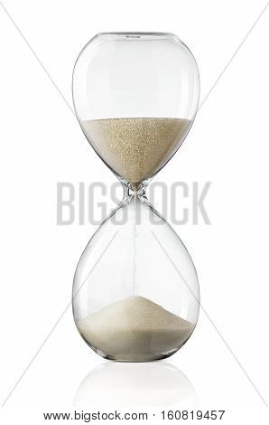 Hourglass sand glass isolated on white background