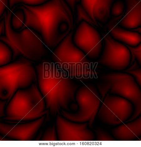 Red abstract futuristic glossy background with fabric, silk texture and ambient occlusion effect for design concepts, wallpapers, presentations, web and prints. Vector illustration.