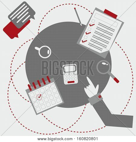 Office business amenities on the round table