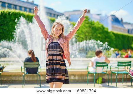 Happy Young Parisian Woman