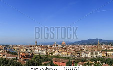 Panorama Of Florence's Historic Center
