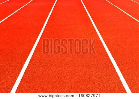 Racetrack Background. Red floor and white line