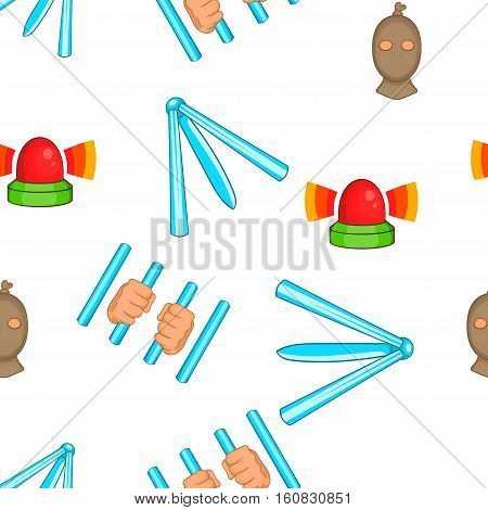 Legal services crime pattern. Cartoon illustration of legal services crime vector pattern for web