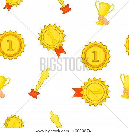 Award elemenrs pattern. Cartoon illustration of award elemenrs vector pattern for web