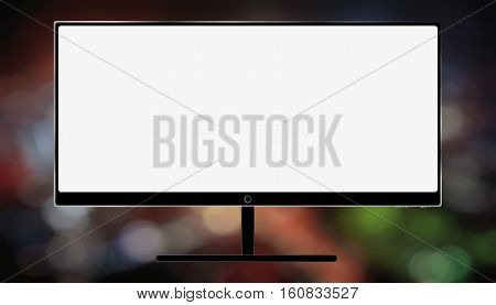 big LcD TV background bokeh night abstract