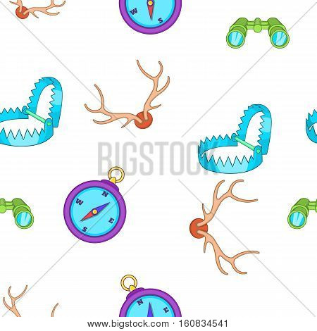 Hunting pattern. Cartoon illustration of hunting vector pattern for web