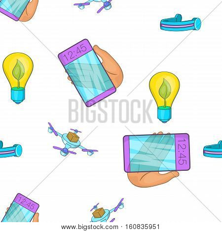 Innovative gadgets pattern. Cartoon illustration of innovative gadgets vector pattern for web