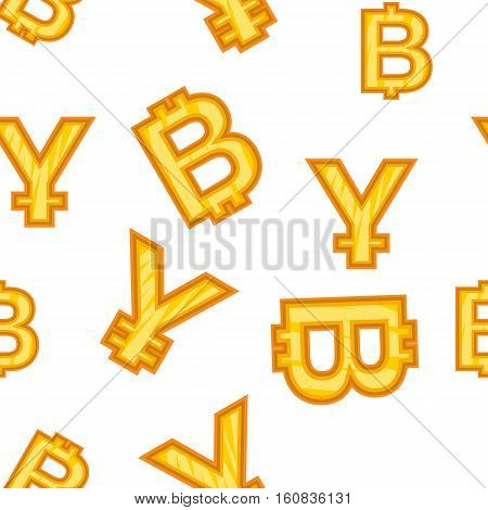 Currency signs pattern. Cartoon illustration of currency signs vector pattern for web