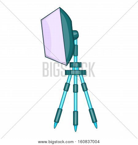 Spotlight on tripod icon. Cartoon illustration of spotlight on tripod vector icon for web