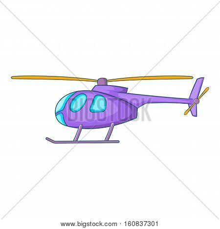 Helicopter icon. Cartoon illustration of helicopter vector icon for web