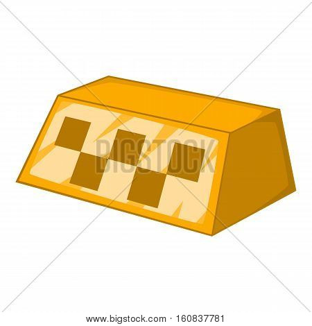 Checker taxi icon. Cartoon illustration of checker taxi vector icon for web