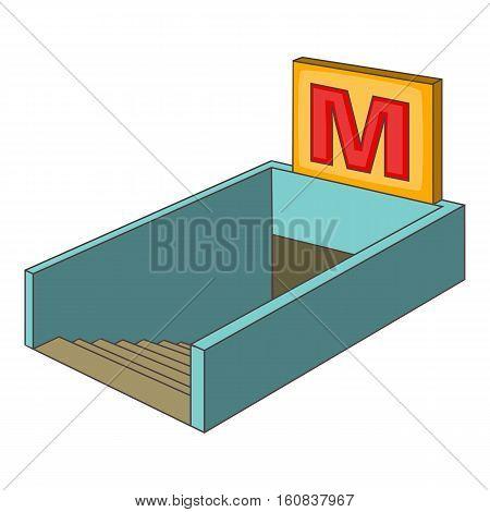 Metro icon. Cartoon illustration of metro vector icon for web
