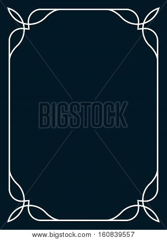 Frame border line page vector simple cover