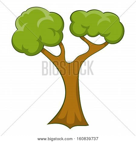 Branchy tree icon. Cartoon illustration of branchy tree vector icon for web