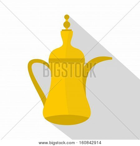 Oriental teapot icon. Flat illustration of oriental teapot vector icon for web
