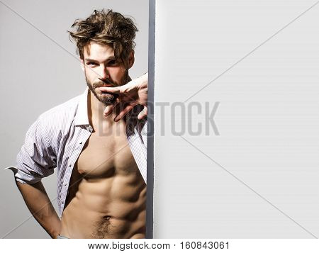 Thoughtful Handsome Muscular Man