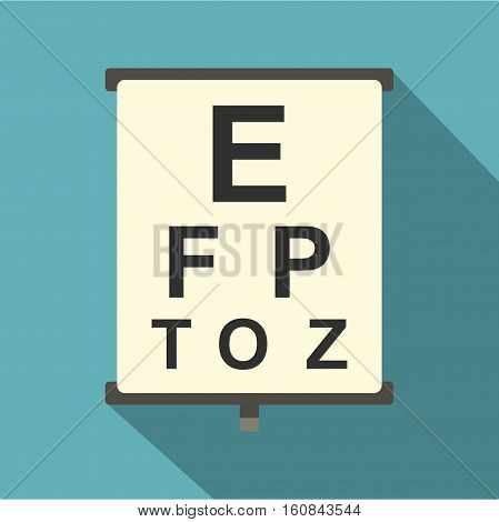 Eyesight check icon. Flat illustration of eyesight check vector icon for web