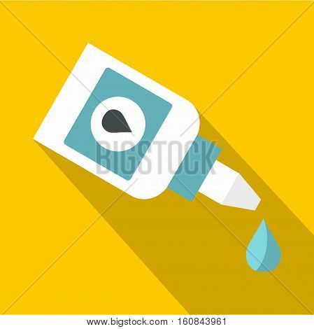 Eyedrop icon. Flat illustration of eyedrop vector icon for web