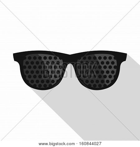 Bifocals icon. Flat illustration of bifocals vector icon for web