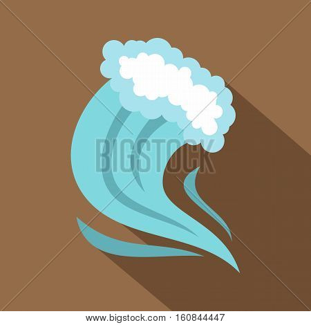Tsunami icon. Cartoon illustration of tsunami vector icon for web