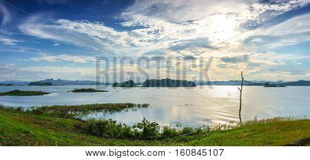Pom Pee View Port Panorama. Sangkhlaburi District, Kanchanaburi Province, Thailand.