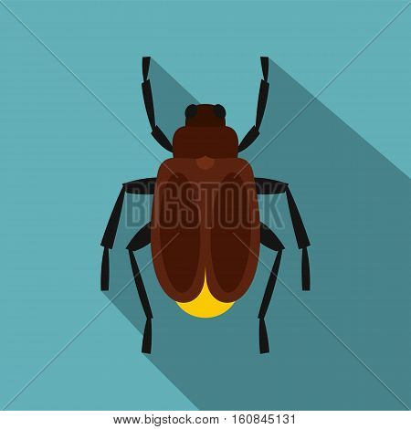 Harvest bug icon. Flat illustration of harvest bug vector icon for web