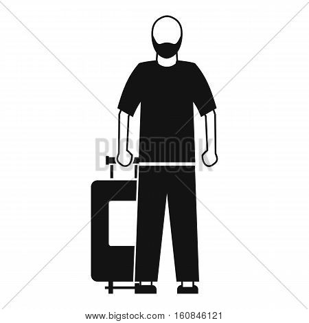 Arabic man icon. Simple illustration of arabic man vector icon for web