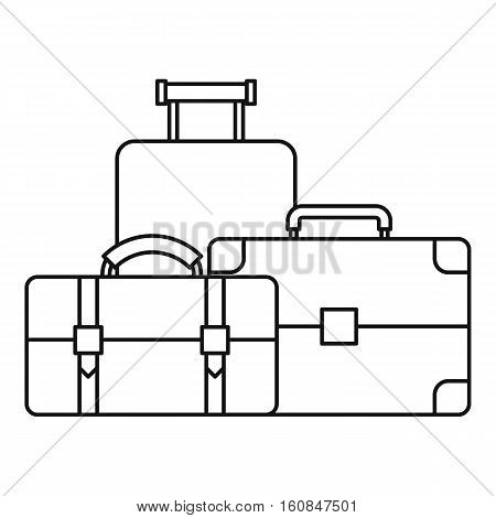 Baggage icon. Outline illustration of baggage vector icon for web