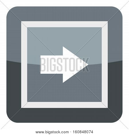 Gray button icon. Cartoon illustration of gray button vector icon for web