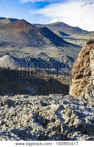 Photo of the volcanic landscape at Fuencaliente in La Palma canaries.