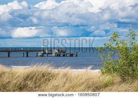 The pier in Bansin on the island Usedom Germany.