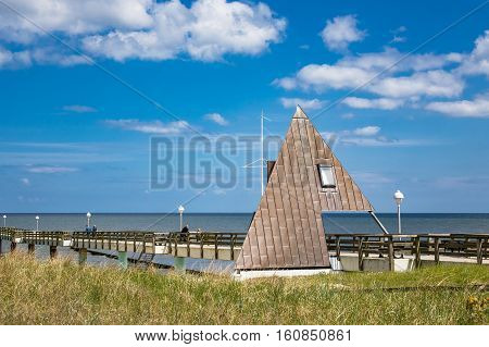 The pier in Koserow on the island Usedom Germany.