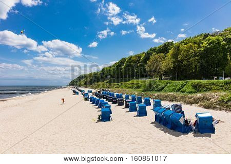 The beach in Koserow on the island Usedom Germany.