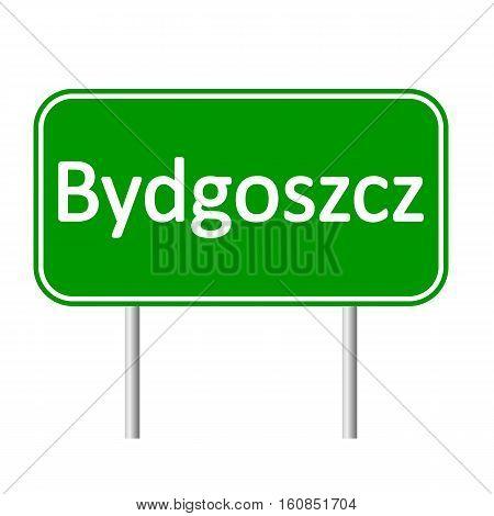 Bydgoszcz road sign isolated on white background.