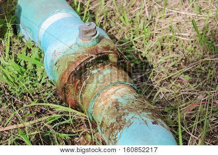 water valve broken plumbing tube and leak at wait repair plumber poster
