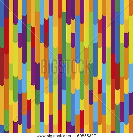 Colorful vertical stripes background texture. Vector seamless pattern in vibrant colors tropical nature style. Fun design for kids boys and girls. Decorative element for prints covers textile