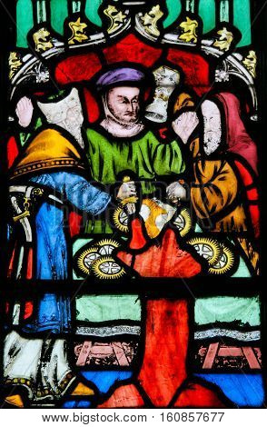 Stained Glass - Antisemitic Legend Of Jews Stealing Sacramental Bread