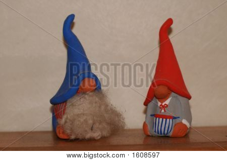 Two Gnomes With Hats