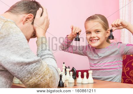 My Daughter Is Happy That The Pope Played Two Pawns And Win In Chess