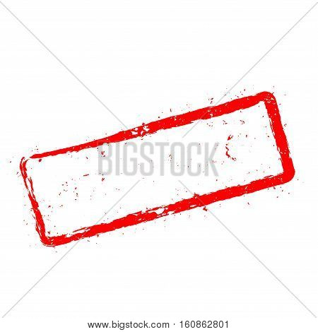 Instant Prizes Red Rubber Stamp Isolated On White Background. Grunge Rectangular Seal With Text, Ink