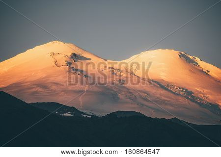 Elbrus Mountain at sunrise Landscape Travel scenic view