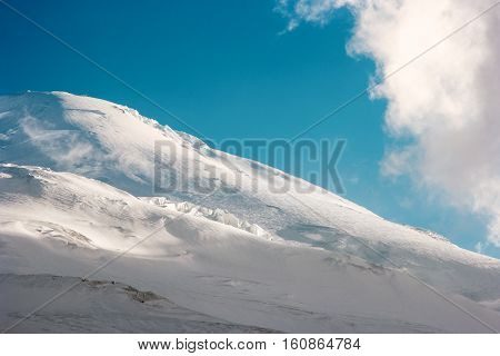 Elbrus Mountain glacier Landscape Travel serene scenic view blue sky and clouds