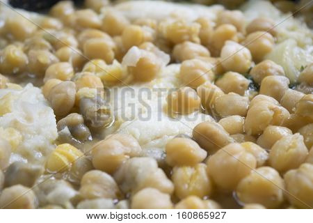 soup of salted cod fish and chickpeas