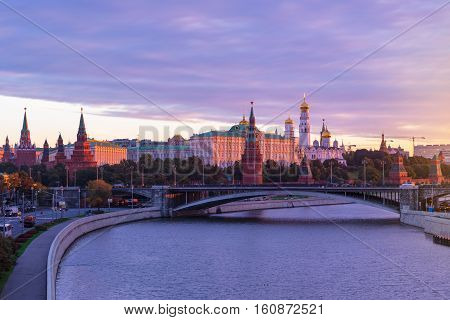 Moscow at morning, Kremlin and Grand Kremlin Palace, Sunrise, Moscow