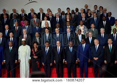 Antananarivo, Madagascar. November 26Th 2016 - Family Photo Of Presidents And Chief Of Delegation At